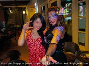 Halloween spider queen face painting Happier Singapore