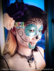 Halloween Sugarskull face painting