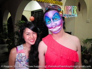 Halloween ursula face painting Happier Singapore