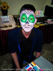 Halloween vintage sugarskull face painting Happier Singapore