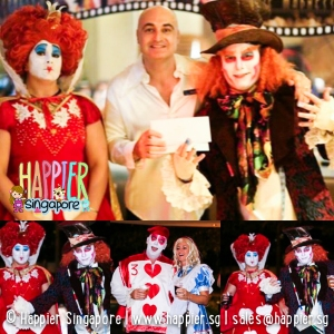 Queen of Hearts Mad Hatter Face Painting Happier Singapore