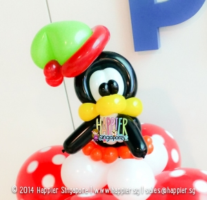 Christmas Penguin Balloon Sculpture Happier Singapore