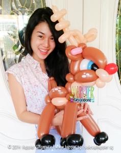 Christmas Reindeer Balloon Sculpture Happier Singapore