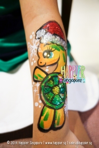 Christmas Turtle Arm Painting Happier Singapore