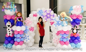 Frozen Inspired Balloon Decorations Happier Singapore