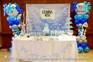 Frozen Inspired Dessert Table Happier Singapore