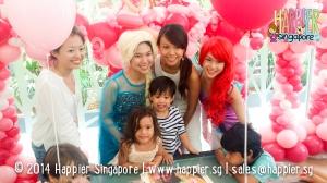 Frozen Inspired Elsa & Ariel Mascot Happier Singapore