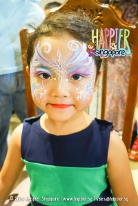Frozen Inspired Elsa Face Painting Happier Singapore