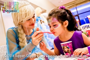 Frozen Inspired Elsa Mascot Happier Singapore