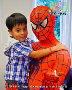 Inspired Spiderman Mascot happier singapore