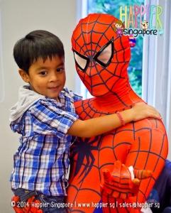 Inspired Spiderman Mascot happier singapore