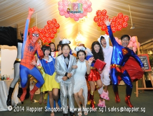 Superhero & Princess Mascots Happier Singapore