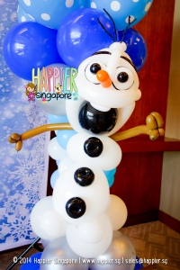 Olaf Balloon Column Happier Singapore