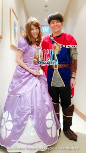 Princess Sophia Inspired and Prince Charming Mascot Happier Singapore
