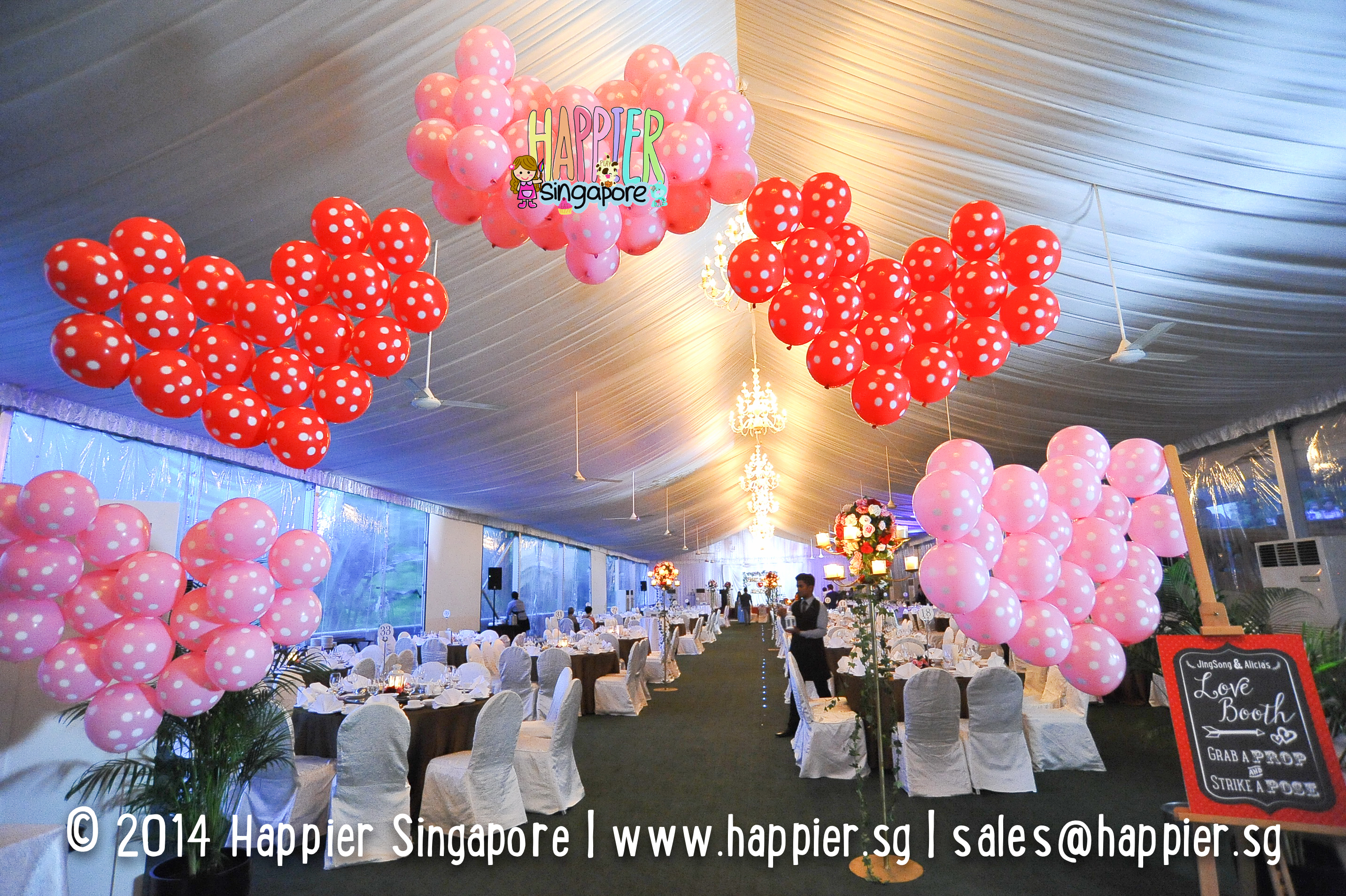 Best of our face painting balloon sculpting decorations 2014 wedding balloon decorations heart balloon arch happier singapore junglespirit Images