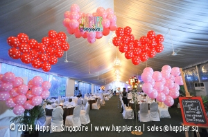 Wedding Balloon Decorations Heart Balloon Arch Happier Singapore