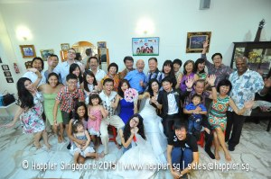 Bride's Family Photo Singapore