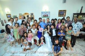 Bride's Family Photo Singapore