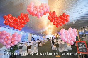 Heart Balloon Arch Wedding Reception Ideas Singapore