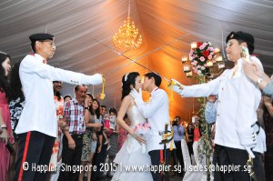 Sword Bearers Military Wedding Reception Ideas Singapore