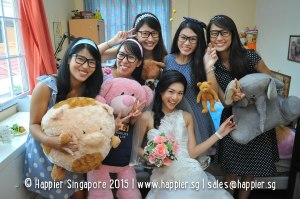 Bridesmaid sisters photo singapore
