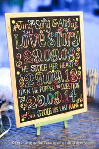 Scratch art wedding reception ideas singapore