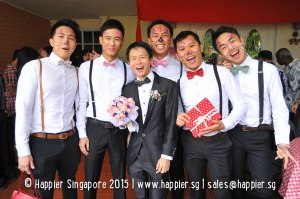 Groomsmen face painting singapore