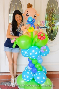 Baby Shower Balloon Column Happier Singapore