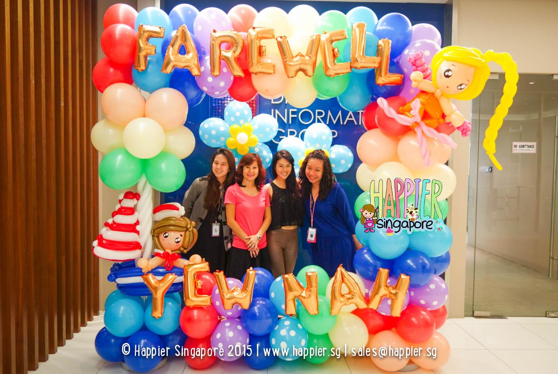 baby shower balloon column happier singapore balloon photo frame happier singapore
