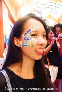Flower face painting adult happier singapore