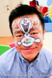 Frozen Olaf face painting happier singapore