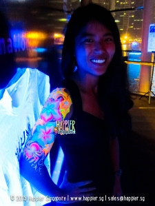 Glow arm painting happier singapore