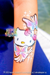 Hello kitty arm painting happier singapore