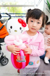 Hello kitty princess balloon sculpting happier singapore