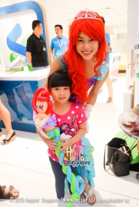 Little Mermaid Balloon Sculpting by Ariel Mascot Happier Singapore