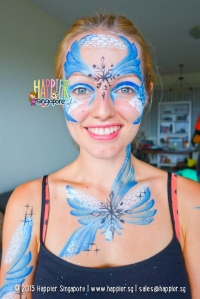 Mermaid face body painting halloween happier singapore