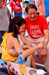 NDP arm painting for DPM Teo Chee Hean Happier Singapore