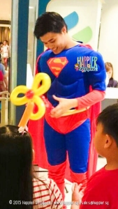 Superman balloon sculptor happier singapore