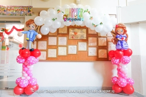 Wedding couple balloon arch sculpture happier singapore