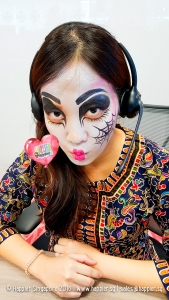 halloween-female-ghost-dj-face-painting-singapore