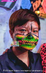 halloween-glow-half-skull-arm-painting-singapore