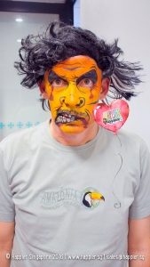 halloween-monster-face-painting